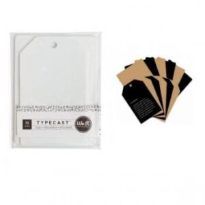 Tag & Card Set - WR - Typecast - Kraft (12 Piece)