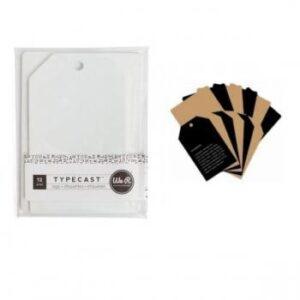 Tag & Card Set - WR - Typecast - Kraft (12 Piece)