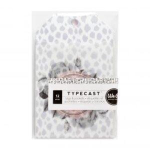 Tags & Pocket - WR - Typecast - Vellum (12 Piece)