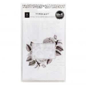 Treat Bags - WR - Typecast - Pattern (6 Piece)