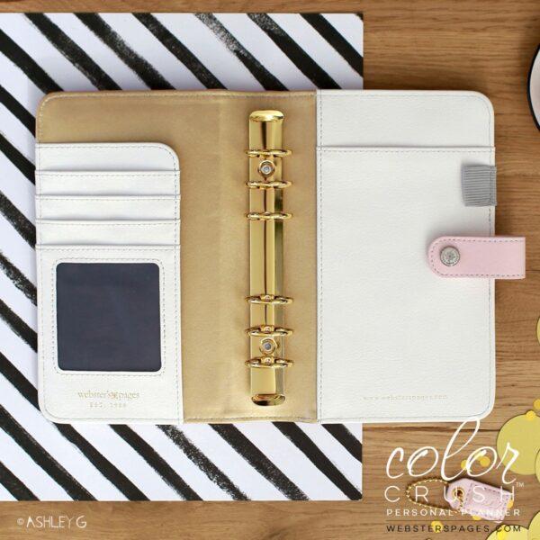 Personal Planner Binder - Blush & Gold Foil Dot