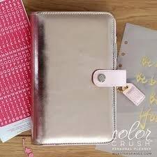 Personal Planner Binder - Platinum Rose
