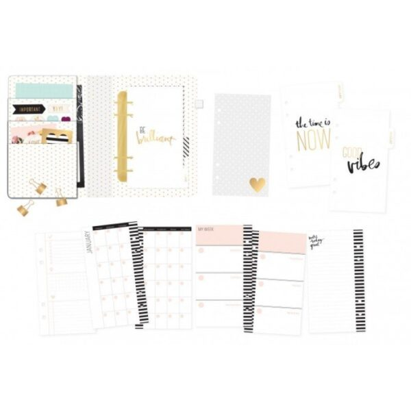 Personal Planner - HS - Memory Planner - Gold Foil - Planner - Stripes