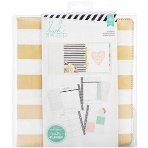 Large Planner - HS - Memory Planner - Gold Foil - Planner - Stripes