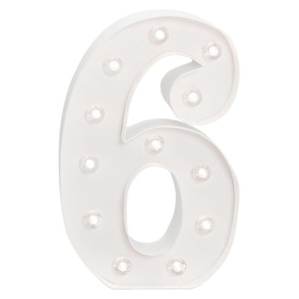 Marquee Numbers - HS - Size 10 Inch - 6