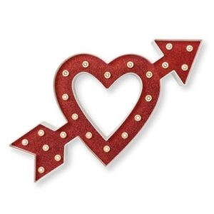 Marquee Symbols - HS - Size 14 Inch - Heart/Arrow