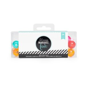 Marquee Accessories - HS - Multi Color Bulb Caps - Teal (24 Bulbs)