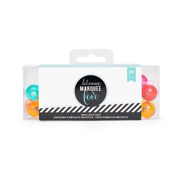 Marquee Accessories - HS - Multi Color Bulb Caps - Teal (24 Bulbs)