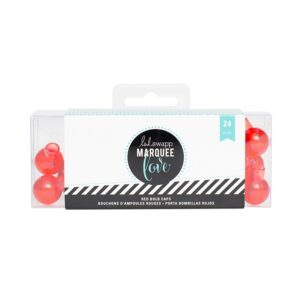 Marquee Accessories - HS - Red Bulb Caps - (24 Bulbs)