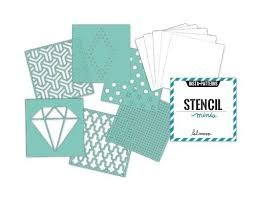 Stencils - HS - Mixed Media - 4 x 4 - Patterned - 6 Stencils & 6 Cardstock Sheets