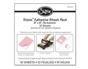 Sizzix Adhesive Sheet Pack - 6 x 6, Permanent, 10 Sheets