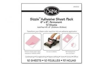 Sizzix Adhesive Sheet Pack - 6 x 6, Permanent, 10 Sheets