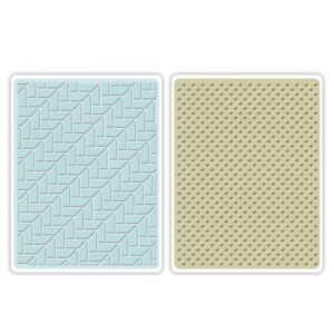 Sizzix Textured Impressions Embossing Folders 2PK - Houndstooth & Dots Set by Echo Park Paper Co