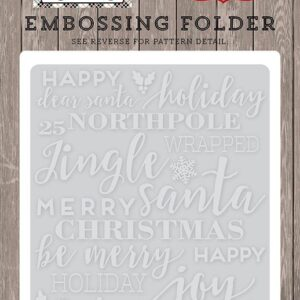 Embossing Folder -Holiday Phrases