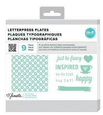 Letterpress Plates - AC - SL - True Stories - Happy (9 Piece)