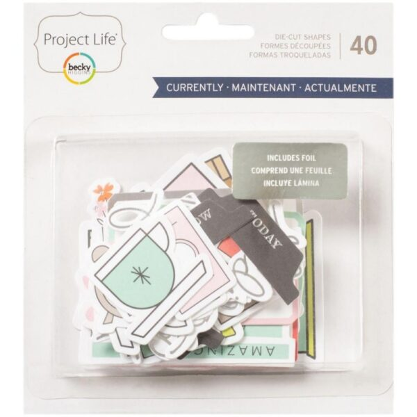 Project Life - Currently Edition - Silver Foil - Ephemera (40 Piece)
