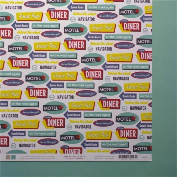 Papel para scrapbooking American Crafts Travel Phrases