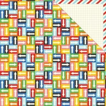Papel para scrapbooking Imaginisce Patterned - IM - HappyT raveler - Adventure