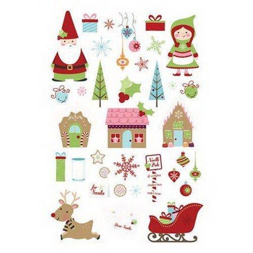 Christmas Cottage Rub-on Icons