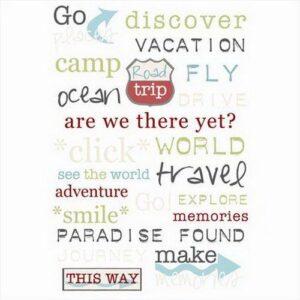 Rub-on Words - Travel Talk