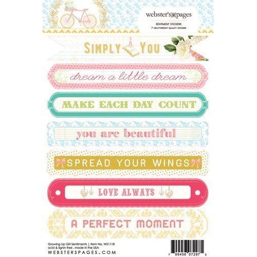 Sticker Sentiment 4x6 - Growing up Girl - P