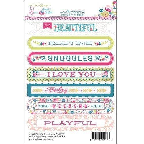 Sticker Sentiment 4x6 - Sweet Routine - P