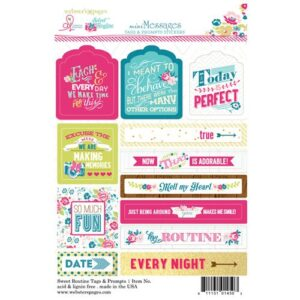 Sticker Tag & Prompt 4x6 - Sweet Routine - P