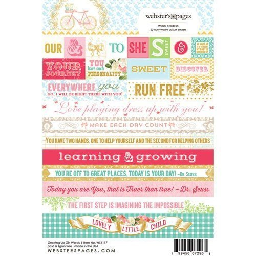 Sticker Word 4x6 - Growing up Girl - P