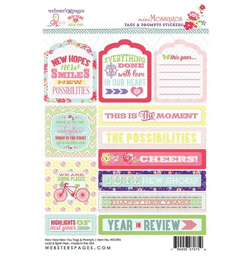 Tag & Prompt 4x6 sticker - New Year New You - P