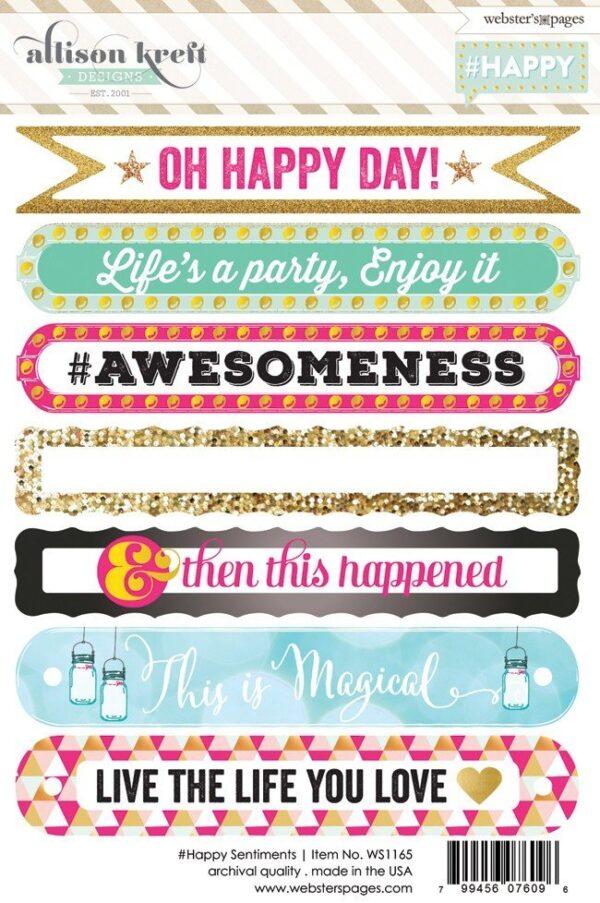 Happy Sentiment 4x6 sticker - P