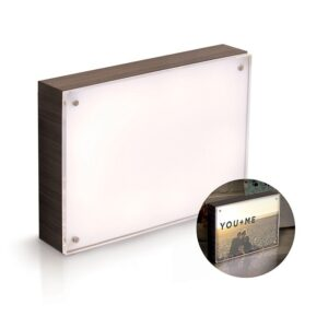 Acrylic Wood Frame - WR - Photo Lights - 5 x 7 - Ebony - P