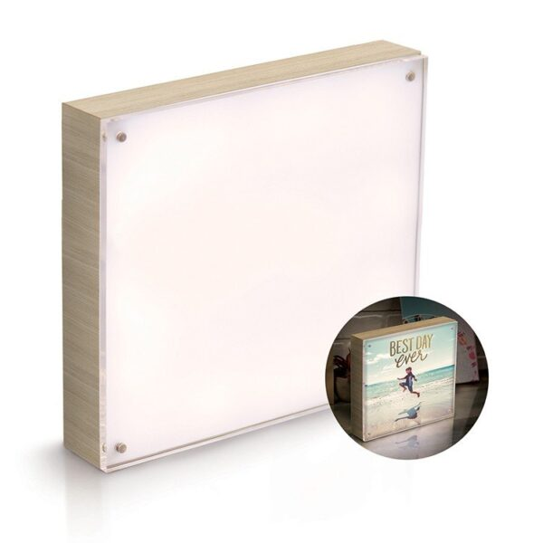 Acrylic Wood Frame - WR - Photo Lights - 8 x 8 - Natural