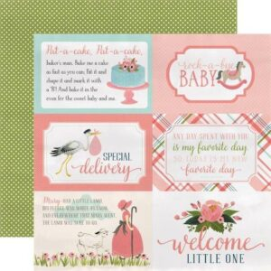 Papel para scrapbooking Carta Bella 4x6 Journaling Cards - P
