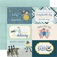 Papel para scrapbooking Carta Bella 4x6 Journaling Cards Boy - P