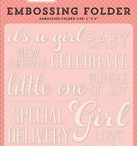 Embossing Folder -Sweet Baby Girl - P