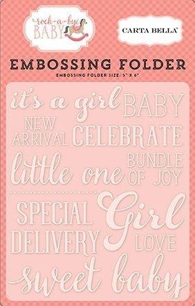 Embossing Folder -Sweet Baby Girl - P