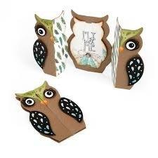 Thinlits Die Set 6PK - Card, Owl Label Fold-a-Long by Jen Long