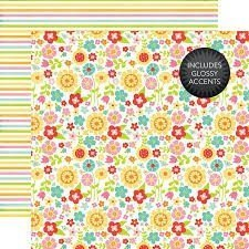 Papel para scrapbooking Echo Park May Flowers -Glossy Accents - P