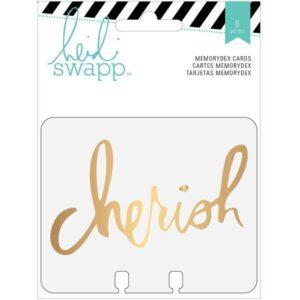 Cards - HS - MemoryDex - Acetate - Gold Foil - Cherish - P