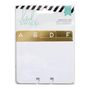Cards - HS - MemoryDex - Gold Foil - Address Book Tabs - P