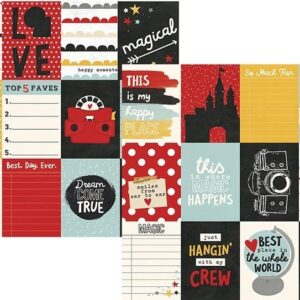 Papel para scrapbooking Simple Stories 3x4 Journaling Card Elements Say Cheese III - P