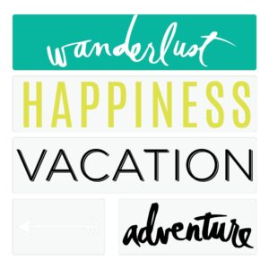 Word Strips - HS - Lightbox - Travel (4 Piece) - P