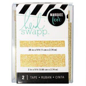 Tape Set - HS - Lightbox - Gold Glitter (2 Piece) - P