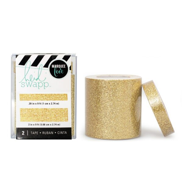 Tape Set - HS - Lightbox - Gold Glitter (2 Piece) - P