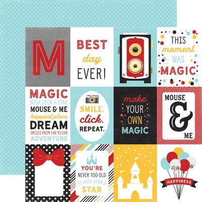 Papel para scrapbooking Echo Park 3X4 Journaling Cards Magic & Wonder - P