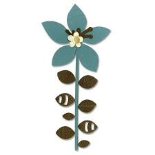 Sizzix Bigz Dies - Flower, Leaves & Stem 4 by BasicGrey - P