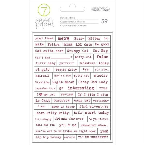 Stickers - SC - Baxter - Cat Phrases (59 Piece)