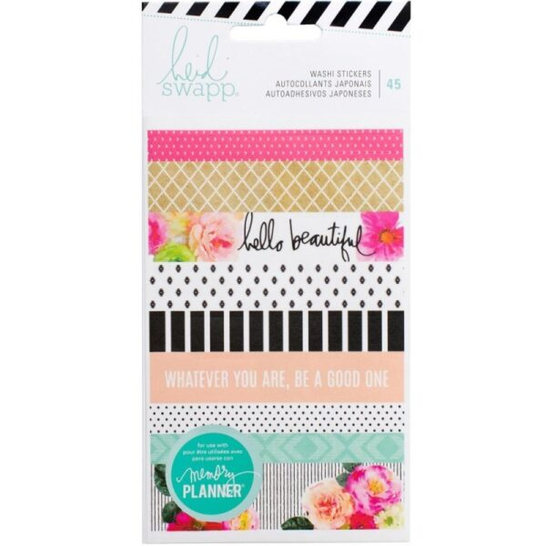 Stickers - HS - Memory Planner 2017 - Washi Book - 3 Sheets (45 Piece) - P