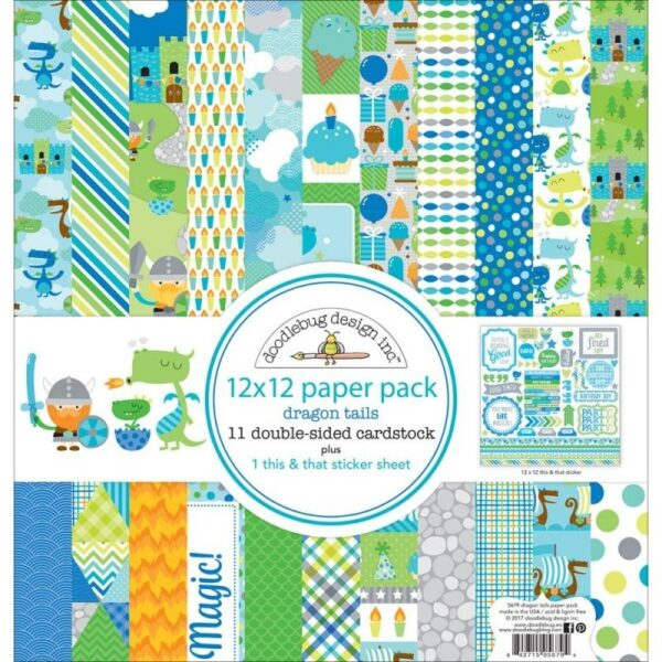 Dragon tails 12x12 paper pack - P