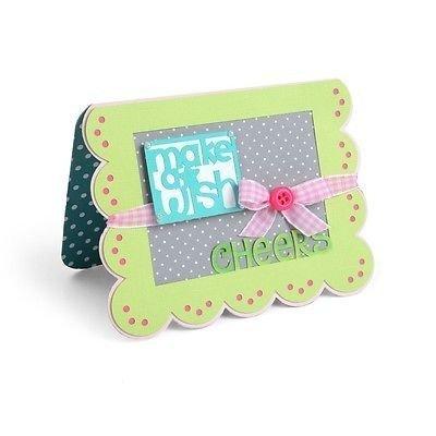 Framelits Die Set 15PK - Card, Scallop w/Greetings Drop-ins by Stephanie Barnard - P